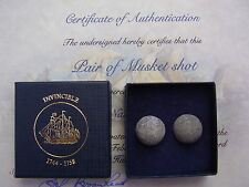 Flintlock Double Musket Balls from 1758  HMS Invincible ShipWreck