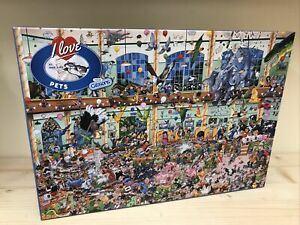 Gibsons - I Love Pets 1000 Piece Jigsaw Puzzle By Mike Jupp G514 #