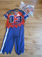 KIDS FANCY DRESS UP COSTUME BASEBALL SPORTS SCARY AGE 5-6 YEARS BNWT