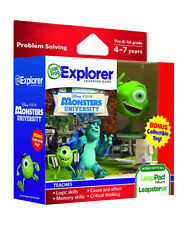 LeapFrog Leapster LeapPad Kids Learning Game Disney Pixar Monsters w Toy Figure