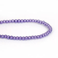 3mm PURPLE GRAPE Round Glass Pearl Beads, double strand about 270 beads, bgl1604