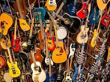 MUSIC PHOTO GUITAR BANJO GROUP LARGE WALL ART PRINT POSTER PICTURE LF2034