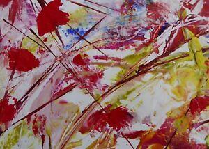 Contemporary Flowers Original Painting By Dorset Artist Christine Ingram.