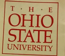 "THE OHIO STATE UNIVERSITY BUCKEYES OSU FOOTBALL INTERIOR WINDOW DECAL  3.5""x3.5"""