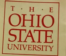 "THE OHIO STATE UNIVERSITY BUCKEYES OSU FOOTBALL INTERIOR WINDOW DECAL  3.5""x3.5"""