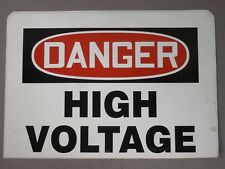 "Lot of 4 Danger Safety Signs: High Voltage 10"" x 7"""