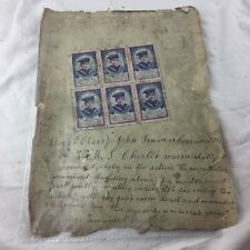 More details for ww1 genuine jack cornwell ward 6 block stamp tokens  aid hms chester star carter