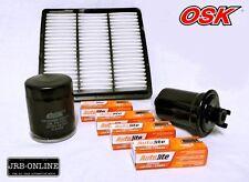 MITSUBISHI TRITON MK 2.4L PETROL 2WD OIL AIR FUEL FILTER+SPARK PLUG KIT 96-06