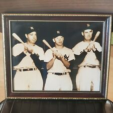 Mickey Mantle Joe Dimaggio Ted Williams Photo 8x10 1951 Framed & Matted