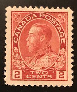 Canadian Stamp, Scott #106 2c King George V 1922 VF M/NH. Nice stamp!