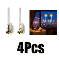 2pcs Solar LED Candles Flameless Candle Lights Window Lighting Antique Home