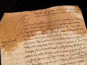 Authentic Letter Manuscript 1644