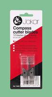 Compass / Circle Cutter 12 Spare Refill Replacement Blades & 2 Leads Jakar 7365B