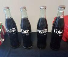 10oz glass Coca Cola bottles, La, Tx, Tn, lot of 4