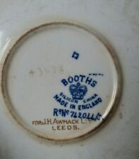 Antique Booths Plate, blue, white and gold pattern (xv20)