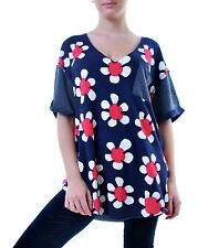 Femme Wildfox Pop fleurs Shore tunique Oxford Taille S £ 94 RRP BCF69