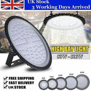 LED High Bay Light 50/100/200/300/500W Low Bay UFO Warehouse Industrial Lights