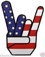 AMERICAN FLAG ROCK GESTURE USA STAR STICKER LAPTOP STICKER