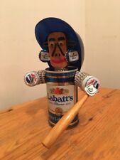 Labatt's Blue Pilsner Vintage Beer Can, Cleveland Indians Baseball Player Statue