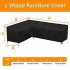 L Shape Corner Garden Rattan Sofa Cover  Furniture Protector Outdoor Waterproof