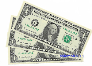 USA 1 dollar note 1$ - mint condition uncirculated