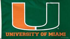 University of Miami Hurricanes Grommet Flag Deluxe NCAA Licensed 3' x 5'