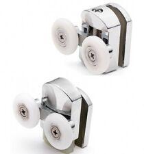 Set of 4 Double Shower Door Rollers/Runners/Guides/Wheels diameter 23mm  L105