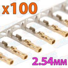 100x Conector Dupont Hembra 2.54mm soldar crimpar Plastic Head Jumper Wire