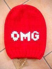 (79) Kinder Mütze FREAKY HEADS Beanie Wintermütze OMG mit Logo Aufnäher gr.53