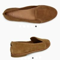 UGG Bonnie Suede Leather Tan Chestnut Loafers Flats Size 9 US