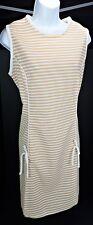 18.5 Vintage 70s Shift Dress Sleeveless Union Made Polyester Stripe Retro Summer