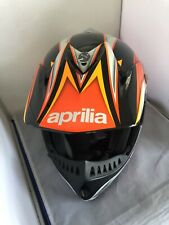 Aprilia Motocross Motorcycle Racing Helmet Vemar Off Road Vehicle User Sz. Large