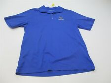 Nike Golf Men's Size M Athletic Dri Fit Breathable Blue Polo T-shirt