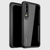 Shockproof Armor Clear Slim Hybrid Bumper Rugged Case For Various Huawei Phones