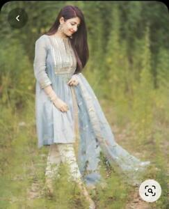 Women Pakistani Designer Salwar Kameez Readymade Dupatta Women Palazzo Kurta Set
