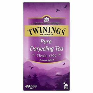 Twinings Pure Darjeeling Tea Include 25 Teabags With Light Flavor For Tea Lovers
