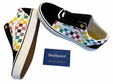 Vans (Old Skool) Checkerboard Rainbow Womens Size 10 Pride Shoes New NIB Fast ⭐️