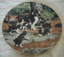 "1989 Hamilton Collection  ""Classic Sporting Dogs"" Plate, ""Springer Spaniels"""