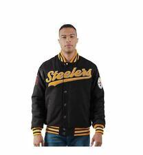 Pittsburgh Steelers Men's G-III Sports Game Ball Varsity Jacket - Black