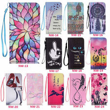 Pattern Phone Flip PU Leather Case Wallet Card Cover For iPhone 4S 5 5C 6S Plus