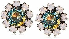 NEW Tova Pink Green Blue Swarovski Crystal Studs Post Earrings NWT