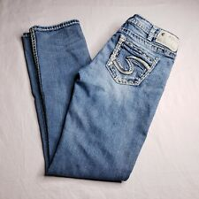 Silver Jeans Size 30 Tuesday Baby Boot Medium Wash Low Rise Bootcut Womens