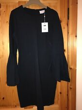 New with tags, Navy Dress M,Bell Sleeves, 12-14, neoprene, minimalist