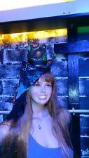 Ladies veiled Fascinator Top Hat / with matching Clutch - Burlesque -cosplay