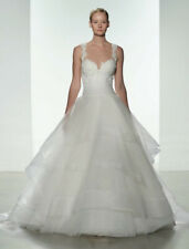 Kenneth Pool Polina K483 Beaded Ball Gown Tulle Illusion Wedding Dress 10