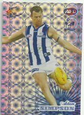 2008 AFL Select Champions Holofoil NORTH MELBOURNE HF108 ADAM SIMPSON CARD