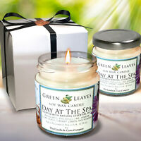 Day At The Spa Handmade, Aromatherapy Highly Scented Soy Candle. Gift For Her