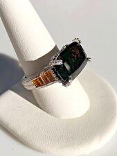 Judith Ripka ~ Sterling ~ Multi- Gemstone Ring ~ 11.70 cttw ~ Size 11