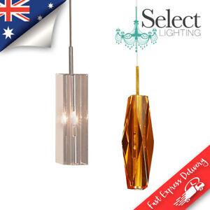 CUBO - Crystal Lighting Range - Clear or Amber Pendants, Flush mount, Wall light