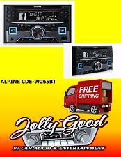 Alpine CDE-W265EBT  2 DIN CD Receiver with Bluetooth / USB / iPod / iPhone / PAN